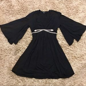 Sky Black and Jeweled Cocktail Dress Size Medium